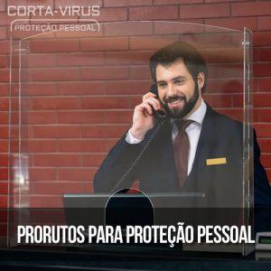 Proteção Acrílica Balcão ou Escritório